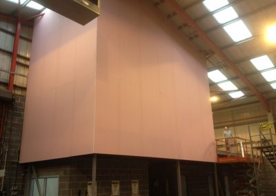 Fire rated plasterboard partiton walls